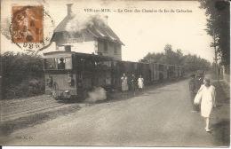 14  VER Sur MER  La Gare Des Chemins De Fer Du Calvados - Gares - Avec Trains