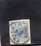 AUTRICHE 1850 O PAPIER A LA MAIN - 1850-1918 Empire