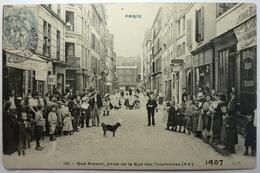RUE BISSON , PRISE DE LA RUE DES COURONNES - PARIS - Distretto: 20
