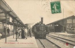 92 CLAMART La Gare L'Arrivée Du Train  1911  Carte D'Epoque - Gares - Sans Trains