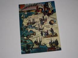 M754 -    Le Finistere Carte Blason Costume Coiffe  Editeur Editions Jean Audierne N° 23 819 - Autres Communes