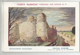 49 Chateau D'angers D'après Aquarelle De Ruedolf , Pub Messageries Maritimes Publicité Porto Barrosa Portugal Dos Santos - Angers