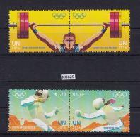 """ONU VIENNA 2016: Serie Di 4 Valori In Coppia MNH/**  """"Giochi Olimpici Rio De Janeiro"""" - Vienna - Ufficio Delle Nazioni Unite"""
