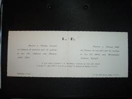 FAIRE-PART DE MARIAGE STEPHANIE LEWCZAK Et ANDRE BOBET (51 PONTFAVERGER Et 93 GAGNY) - Wedding