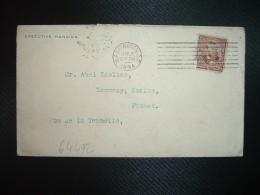 LETTRE Pour La FRANCE TP 5c OBL.MEC.MAR 6 1894 WASHINGTON D.C. + EXECUTIVE MANSION - Cartas