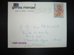 LETTRE TP VIRGILIUS MARO 100 OBL.MEC. + DJERBA MENZEL HOTEL - Tunisia