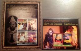 LIBERIA 2014 Toulouse-Lautrec Paintings Art MNH - Art