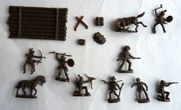 équivalence De BOITE ATLANTIC Réf 1103 COW BOYS KIT CARSON  1/72  Sans La Boîte No Airfix Matchbox Esci ... - Army