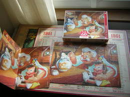 PUZZLE 60 PIECES  26 X 36 CM PINOCCHIO EN FAMILLE  JEUX NATHAN 1995 DISNEY CLASSIC - Puzzles