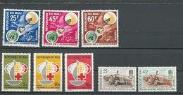 MALI  Scott 45-47, 52-54, 43-44 Yvert 47-49, 54-56, 45-46 (8) ** Cote 6,75$ 1963 - Mali (1959-...)
