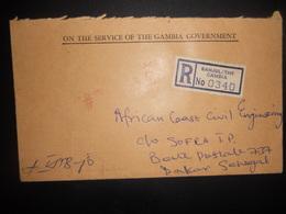 Gambie Lettre De Banjul 1978 Pour Dakar - Gambie (1965-...)