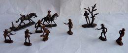 équivalence De BTE ATLANTIC Réf 1114  COW BOYS FAR WEST OUTLAW ET SHERIFF 1/72 Sans La Boîte No Airfix Matchbox Esci ... - Army