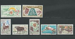 MALI  Scott C15, C21, 67-68, 58, 83, 94 Yvert PA15, PA21, 71-72, 60, 81, 96 (7) * Et O Cote 7,40$ 1963-66 - Mali (1959-...)