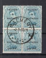 Eupen &Malmedy 5 VIERERBLOCK Gest. (75667 - Occupazione 1914 – 18