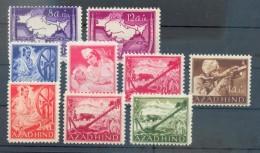 Feldpost AZAD HIND NATIONALES INDIEN I-VI+VIII-X/A**POSTFRISCH 48EUR (70304 - Bezetting 1938-45