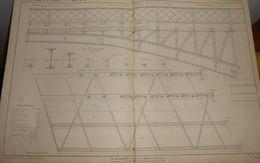 Plan Du Pont Viaduc De Lumes Sur Meuse. Chemin De Fer Des Ardennes. 1858 - Public Works