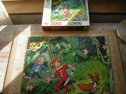 PUZZLE 200 PIECES 418 X 339 MM SPIROU MB ATTENTION MANQUE 4 PIECES RESTE 196 PIECES - Puzzle Games