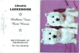 Calendrier. Bruxelles/Laeken. Librairie Laekenoise. Rue Stéphanie. Chiens-Westy.  1999. - Calendriers