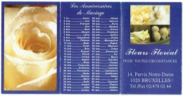 Calendrier. Bruxelles/Laeken. Fleurs Floréal. Parvis Notre-Dame. 2008. - Calendriers