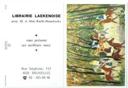 Calendrier. Bruxelles/Laeken. Librairie Laekenoise. Rue Stéphanie. 1995. Jockeys. - Calendriers