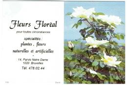 Calendrier. Bruxelles/Laeken. Fleurs Floréal. Parvis Notre-Dame. 1995. - Calendriers