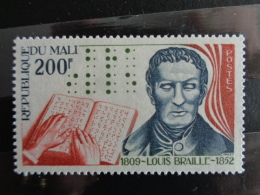 MALI 1977  Y&T N° 280 ** - 125e ANNIV. DE LA MORT DE LOUIS BRAILLE - Mali (1959-...)