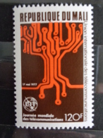 MALI 1977  Y&T N° 281 ** - 9e JOURNEE MONDIALE DES TELECOMMUNICATIONS - Mali (1959-...)