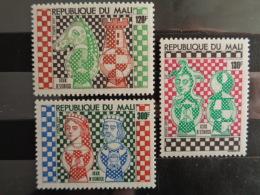 MALI 1977  Y&T N° 288 à 290 ** - JEUX D' ECHECS - Mali (1959-...)