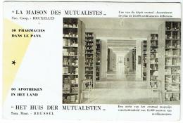 """Buvard. """"Maison Des Mutualistes"""" Pharmacies/Apotheken. Bruxelles. - Buvards, Protège-cahiers Illustrés"""