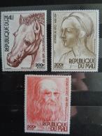 MALI 1977  Y&T N° 291 à 293 ** - 525e ANNIV. DE LA MORT DE LEONARD DE VINCI - Mali (1959-...)