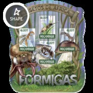 MOZAMBIQUE 2015 SHEET FORMIGAS HORMIGAS ANTS FOURMIS AMEISEN INSECTS Moz15201a - Mosambik