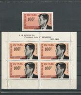 MALI  Scott C24, C24a Yvert PA24, BF3 (1+bloc) ** Cote 12,50$ 1964 - Mali (1959-...)