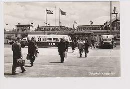 Vintage Rppc KLM K.L.M Royal Dutch Airlines Bus @ Schiphol Amsterdam Airport - 1919-1938: Entre Guerres