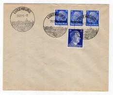 Luxemburg Phil.Umschlag 10+Lo10+DR522+DR793 LÄNDER-MISCHFRANKATUR (R8147 - Occupazione 1938 – 45