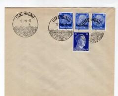 Luxemburg Phil.Umschlag 10+Lo10+DR522+DR793 LÄNDER-MISCHFRANKATUR (R8138 - Occupazione 1938 – 45