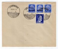 Luxemburg Phil.Umschlag 10+Lo10+DR522+DR793 LÄNDER-MISCHFRANKATUR (R8174 - Occupazione 1938 – 45