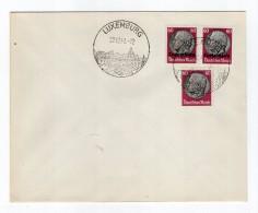 Luxemburg Phil.Umschlag 14+Lo14+DR526 LÄNDER-MISCHFRANKATUR (R8145 - Occupazione 1938 – 45