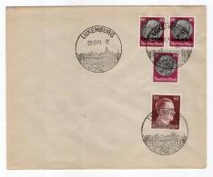 Luxemburg Phil.Umschlag 14+Lo14+DR526+DR797 LÄNDER-MISCHFRANKATUR (R8139 - Occupazione 1938 – 45