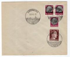Luxemburg Phil.Umschlag 14+Lo14+DR526+DR797 LÄNDER-MISCHFRANKATUR (R8187 - Occupazione 1938 – 45