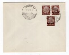 Luxemburg Phil.Umschlag 6+Lo6+DR518 LÄNDER-MISCHFRANKATUR (R8137 - Occupazione 1938 – 45
