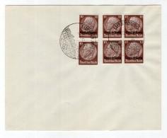 Luxemburg Phil.Umschlag 6+Lo6+DR518 LÄNDER-MISCHFRANKATUR (R8154 - Occupazione 1938 – 45