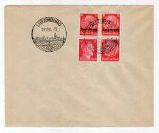 Luxemburg Phil.Umschlag 7+Lo7+DR519+DR788 LÄNDER-MISCHFRANKATUR (R8150 - Occupazione 1938 – 45