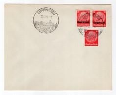 Luxemburg Phil.Umschlag 7+Lo7+DR519+DR788 LÄNDER-MISCHFRANKATUR (R8160 - Occupazione 1938 – 45