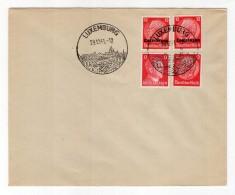Luxemburg Phil.Umschlag 7+Lo7+DR519+DR788 LÄNDER-MISCHFRANKATUR (R8182 - Occupazione 1938 – 45