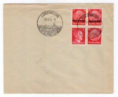 Luxemburg Phil.Umschlag 7+o7+DR519+Dr788 LÄNDER-MISCHFRANKATUR (R8177 - Occupazione 1938 – 45