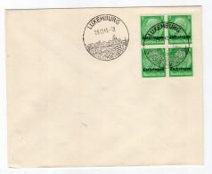 Luxemburg Phil.Umschlag Lo3 LÄNDER-MISCHFRANKATUR (R8173 - Occupation 1938-45
