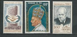 MALI  Scott C29, C30, C31 Yvert PA29, PA30, PA31 (3) ** Cote 6,25$ 1965 - Mali (1959-...)