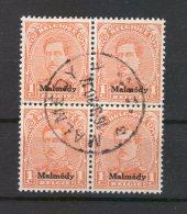 Malmedy 1 VIERERBLOCK Gest. (75664 - Occupazione 1914 – 18
