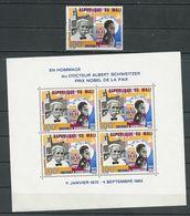 MALI  Scott C32, C32a Yvert PA32, BF4 (1+bloc) ** Cote 14,00$ 1965 - Mali (1959-...)