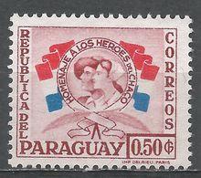 Paraguay 1957. Scott #515 (M) Nurse And Soldier - Paraguay
